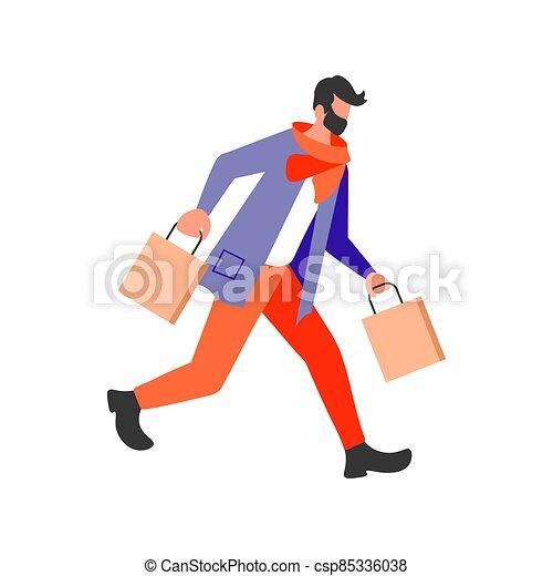 Joyful shopping People - csp85336038