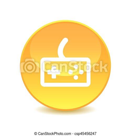 Joystick icon on the background , vector - csp45456247