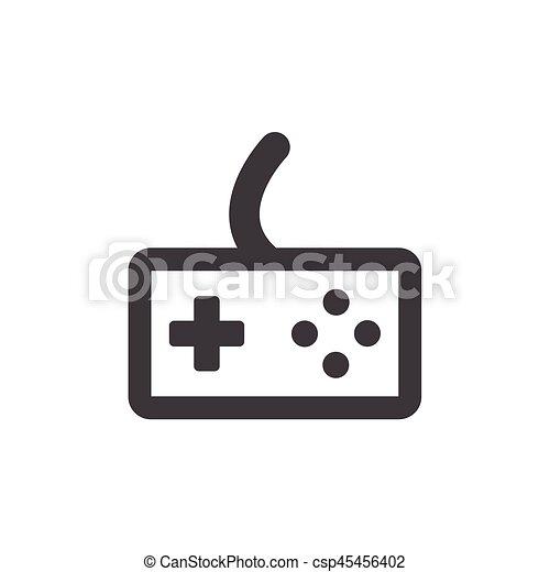 Joystick icon on the background , vector - csp45456402