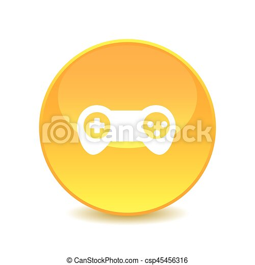 Joystick , Joystick icon on the background , vector - csp45456316