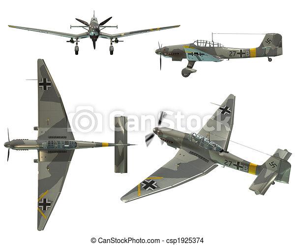3d Render Of An Ju87d Stuka Dive Bomber From The World War Ii