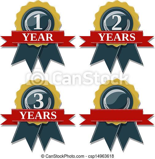 jubileum, jaren, 1, 3, 2, zeehondje, lint - csp14963618