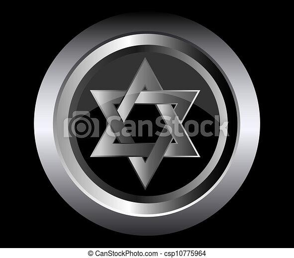 Hebreo Estrella de Magen David - csp10775964