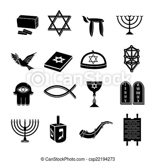 Los iconos del judaísmo se pusieron negros - csp22194273