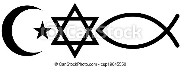 Judaism, Islam and Christianity - csp19645550