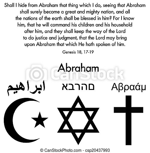 Judaism, Islam and Christianity - csp20437993