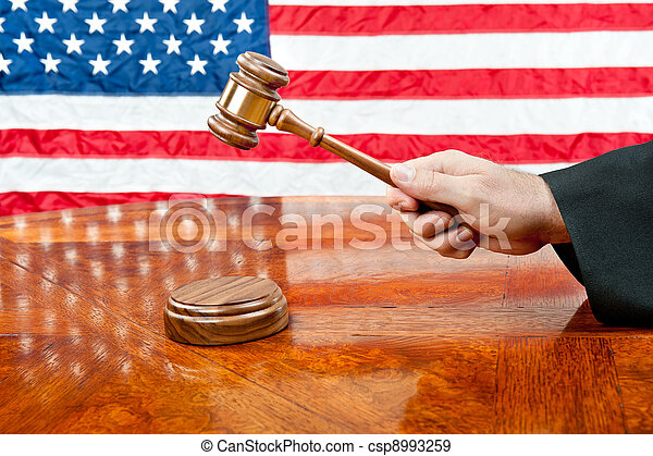 Judge and gavel. A judge\'s gown and gavel with sound block ...
