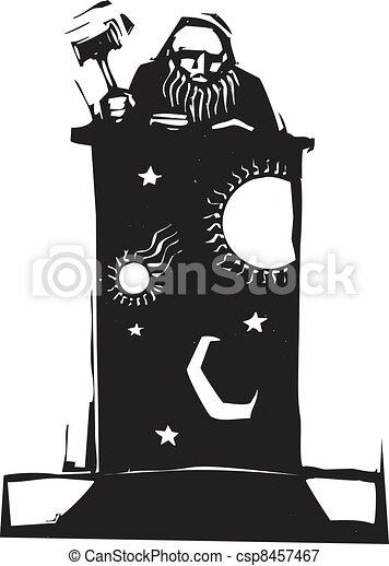 Judge and Night Sky - csp8457467