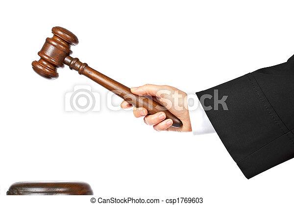 Judge announce the verdict - csp1769603