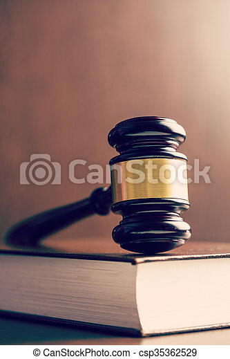 judge gavel and book - csp35362529