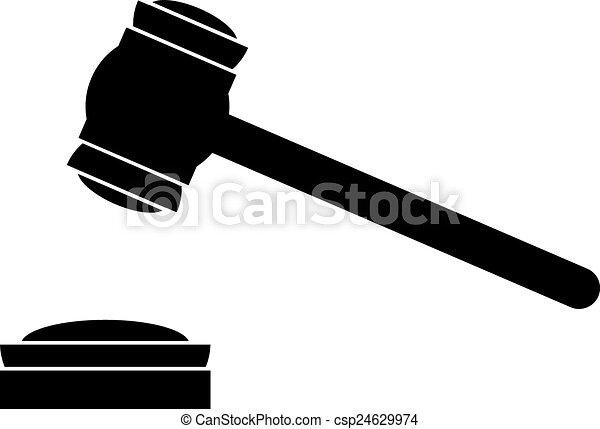 judge gavel icon on white background vector illustration rh canstockphoto ca gavel clipart vector gavel vector art