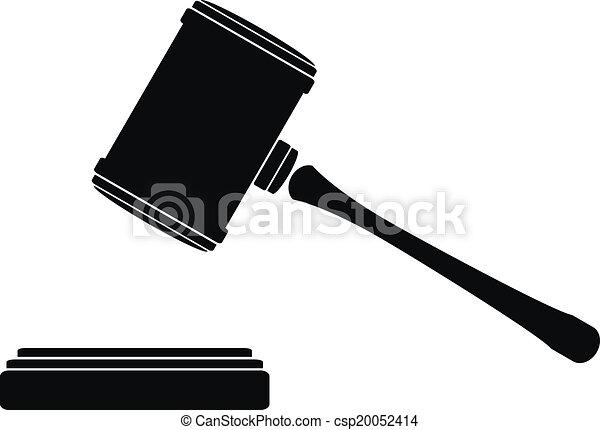 Judge gavel icon - csp20052414