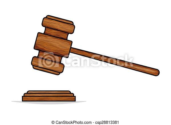 Judge hammer - csp28813381