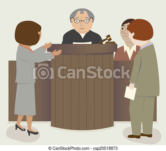 Judge Lawyers Courtroom - csp20518873