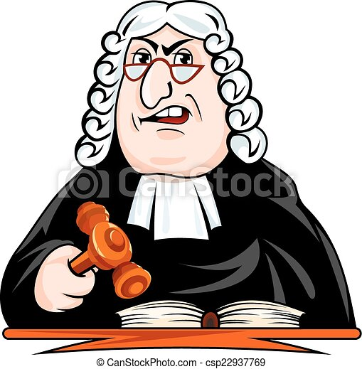 judge make verdict vector illustration in cartoon style clip art rh canstockphoto com clipart judge court clip art judgment day