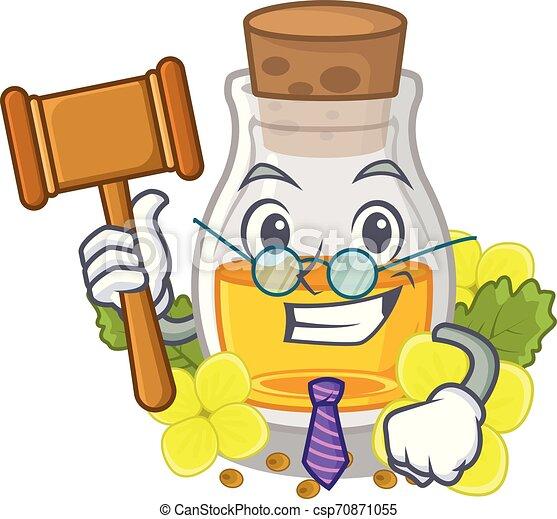 Judge mustard oil in the cartoon shape - csp70871055
