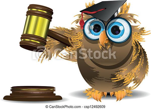 judge owl - csp12492609