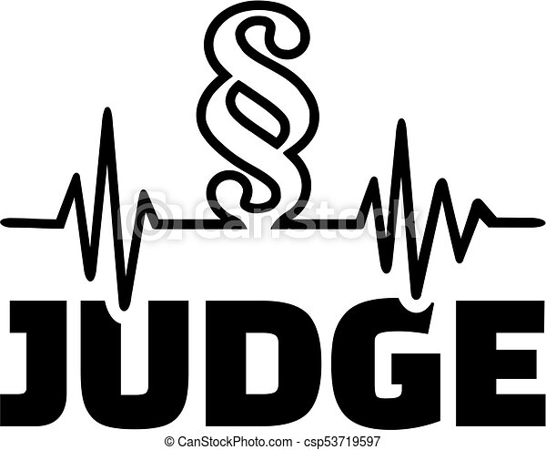 Judge with paragraph cardiology line - csp53719597