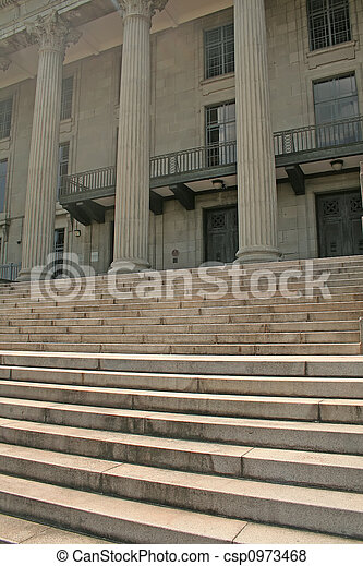 Judicial Courthouse Steps Leading to the Supreme Court - csp0973468