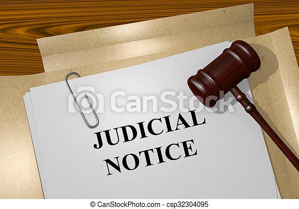 Judicial Notice concept - csp32304095