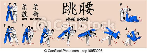 Judo Spring hip throw - csp10953296