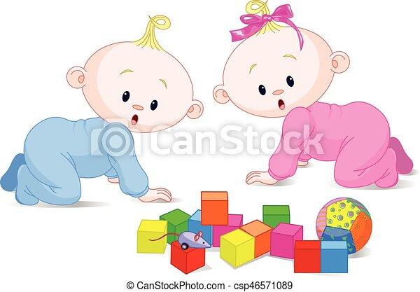 Jugando a los bebés - csp46571089