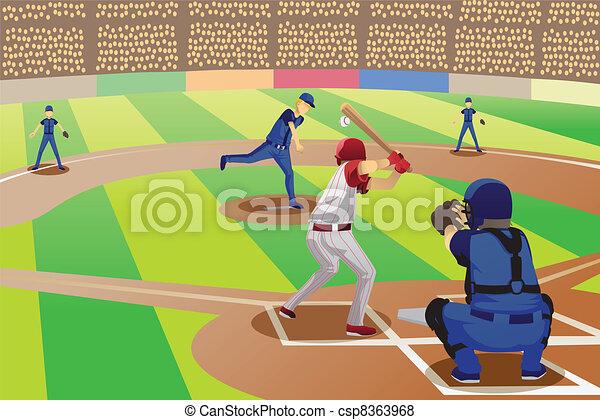 Juego de béisbol - csp8363968