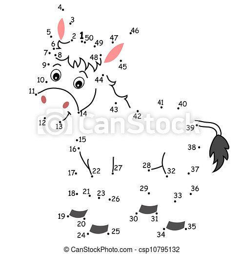 El juego de los puntos, el burro - csp10795132