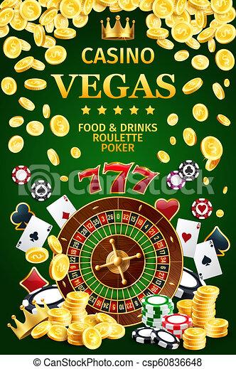Un cartel de casino en internet de apuestas de internet - csp60836648