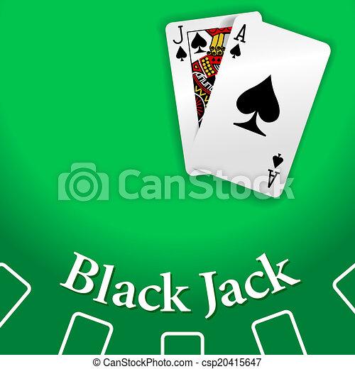 Mesa de blackjack casino jugando a las cartas - csp20415647