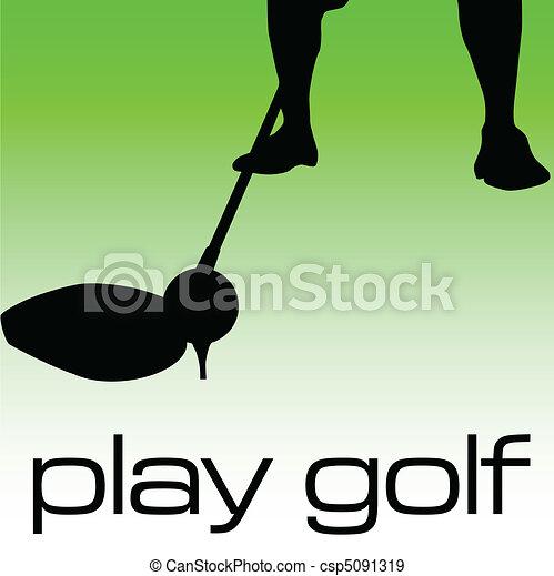 Jugar a la ilustración del golf - csp5091319