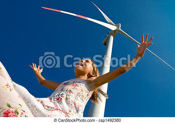 juego, viento - csp1492380