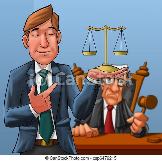 Abogado y juez - csp6479215