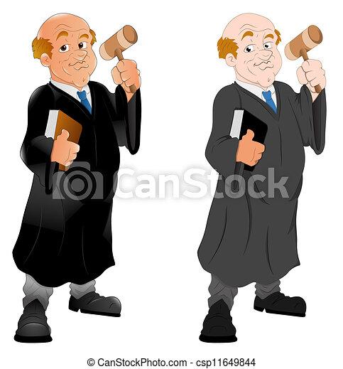 El personaje del juez Cartoon - csp11649844