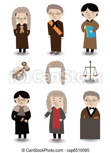 El icono del Juez Cartoon está listo - csp6510065