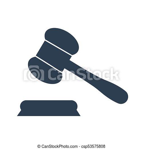 El juez diol vector de icono. - csp53575808