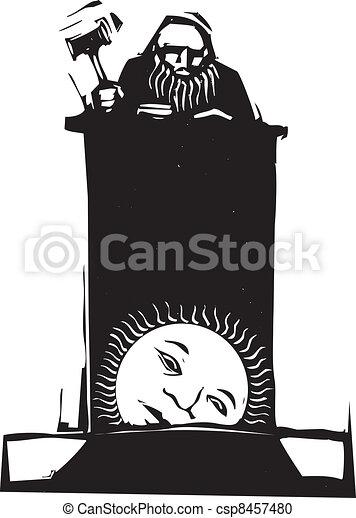 Juez y sol naciente - csp8457480