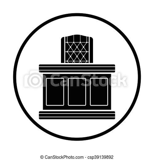 El icono de la mesa del juez - csp39139892