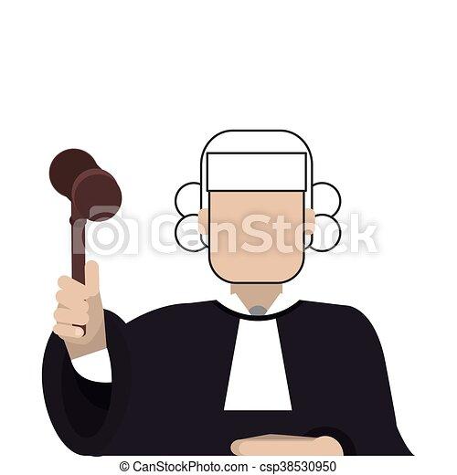 El icono del juez - csp38530950