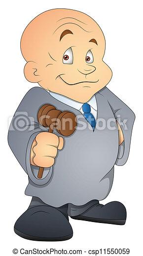 Juez de dibujos animados vector de personajes - csp11550059
