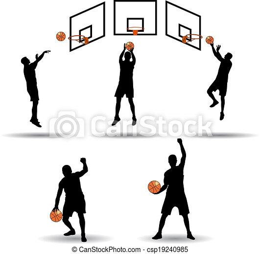 Colección de jugadores de baloncesto - csp19240985