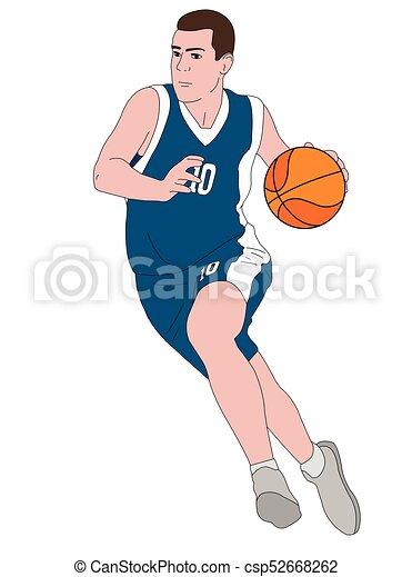 Ilustración de jugadores de baloncesto - csp52668262