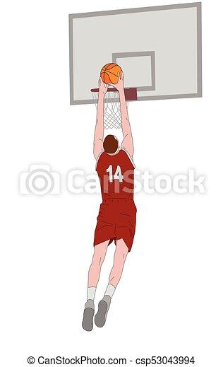 Ilustración de jugadores de baloncesto - csp53043994
