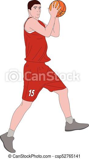 Ilustración de jugadores de baloncesto - csp52765141