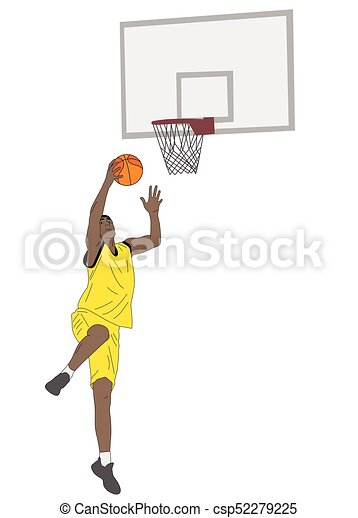 Ilustración de jugadores de baloncesto - csp52279225