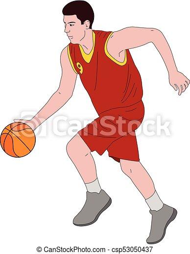 Ilustración de jugadores de baloncesto - csp53050437