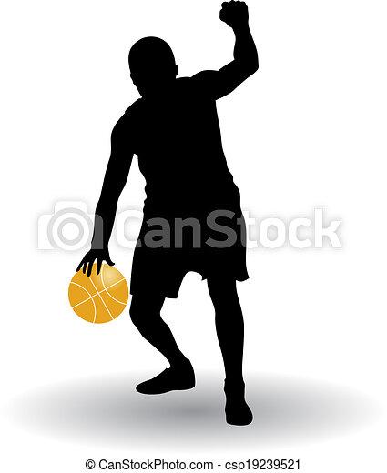 Jugador de baloncesto - csp19239521