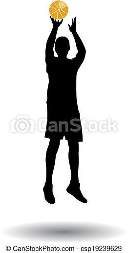 Jugador de baloncesto - csp19239629