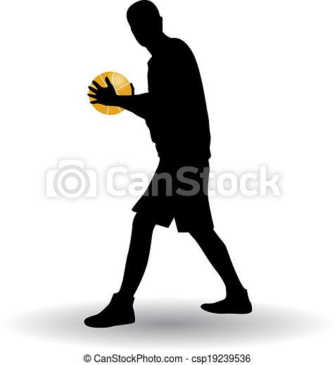 Jugador de baloncesto - csp19239536