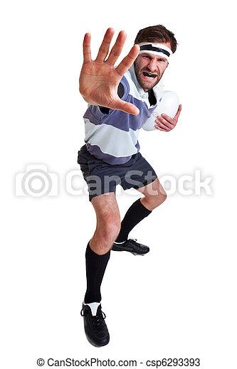 El jugador de rugby se cortó en blanco - csp6293393